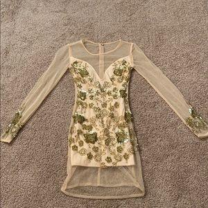 Size: 0 ASOS gold beaded mini dress